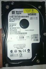 80 GB IDE PATA HDD DISCO RIGIDO HDD WESTERN DIGITAL WD WD800 WD800BB