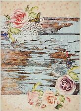 Rice Paper for Decoupage Decopatch Scrapbook Craft Sheet Vintage Roses on Lace