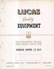 Singer Super 12 HP 1949 Lucas illustrated Parts List No. CE498