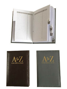Mini Pocket Size A to Z Index Book 74 Pages with Hard Cover (Grey) 70x110x15mm