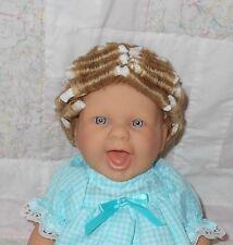 "Human Hair Doll Wig Size 10.5/11"" (27-28 cm)~ Blonde ~ CURLS - Full Cap #720216"