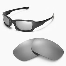Walleva Titanium Replacement Lenses for Oakley Fives Squared Sunglasses