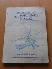 Aeroplanes ( Civil ) - John Player & Son - 1935.  Full Set in Album.