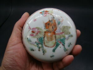 Chinese Tong Zhi (1862-1874) nice famille rose box  c5817