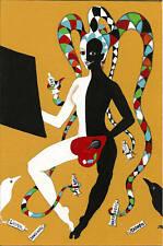 ORIGINAL PAINTING CROW RYTA SURREALISM JOKER MODERN ART PORTRAIT ABSTRACT ODD