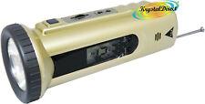 Travel Alarm Snooze LCD TORCIA RADIO FM OROLOGIO ORO