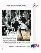 PUBLICITE ADVERTISING  1990    AIR FRANCE  LE CLUB
