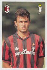 (O&C) Cartolina Milan Paolo Maldini Milano Calcio Mediolanum  [a4]