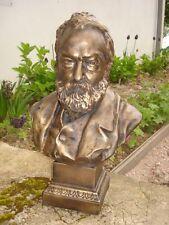 Buste Victor Hugo Ecrivain plâtre grand modèle patine bronze