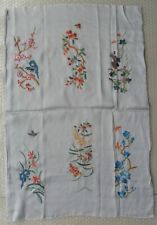 Chinese Peking 100%Hand embroidered flower butterfly Embroidery