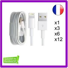 CABLE CHARGEUR 1M, 2M 3M IPHONE 5 6 7 8 PLUS SE X XR XS renforcé Haute qualité