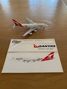 Gemini Jets 1:400 QANTAS 747-400 VH-OEJ 'World Cup' - Die-Cast Model.