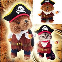 Pet Dog Cat Costume Clothes Pumpkin Pirate Costumes Party Halloween Jacket Dress