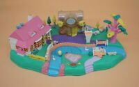Vintage 1996 Polly Pocket Magical Movin' Pollyville Boutique Lake House Bluebird