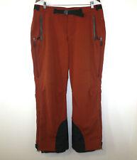 LL Bean Ski Pants Orange Waterproof Belted Vents Ankle Powder Skirts Mens Large