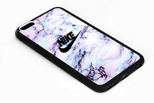 Nike-AG2017 White Marble Print On Hard Plastic Cover Case For iPhone 7/7 Plus