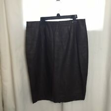 Ann Taylor Womens Brown Faux Leather Pencil Skirt Size 10