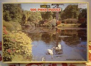 Sheffield Park Sussex Jigsaw Puzzle 500 Piece Complete Rare Swan Garden Uckfield