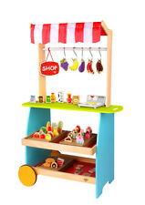 Wooden Kiosk Shop | Children Kids  | Tooky Toy | Food | Pretend Play | Kitchen
