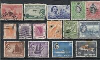 British Commonwealth QEII Collection Of 15 Fine Used JK649
