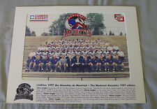 Original CFL Montreal Alouettes 1997 Official Team Photo