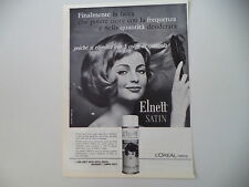 advertising Pubblicità 1963 ELNETT L'OREAL