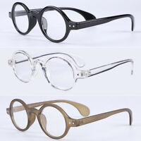Vintage Oval Round 42.70mm Small Eyeglass Frames Clear Lens Rx able Glasses