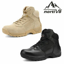 Mens Leather Zip Military Tactical Boots Motorcycle Combat Ankle Hiking Boots US