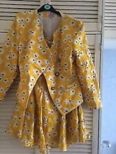 LEWIS HENRY YELLOW AND WHITE LADIES SKIRT SUIT. SIZE 12. BRAND NEW.