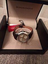 BCBG MAX AZRIA Ladies Diamond Case Leather Band Watch BG6079