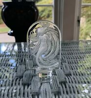 LALIQUE CRYSTAL MERMAID  NAIADE WATER NYMPH PAPERWEIGHT CLEAR/FROSTED~RETIRED