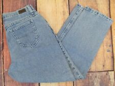 RIDERS Size 12P Relaxed Straight High Waist MOM Cotton Womens Jeans #83C