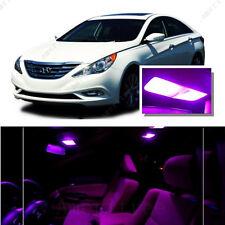 For Hyundai Sonata w/o sunroof 11-14 Pink LED Interior Kit + Pink License Light