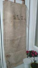 Antique vintage GRAIN SACK feedsack Monogram   hemp linen GRAINSACK
