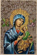 """Our Lady of Perpetual Help Gold Foil Mosaic Plaque (4"""" x 6"""")"""