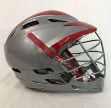 Cascade Pro 7 Lacrosse Helmet Mll Boston Cannons Gray Missing Decals Game Worn