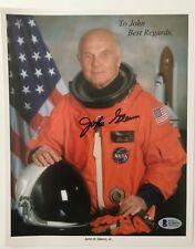 John Glenn Signed Autographed 8x10 Photo Full BAS Beckett Certified Letter NASA