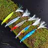 5Pcs Metal Micro Cutter Jigs Fishing Lure Tools Kingfish 4# Feather Hooks 10-30g