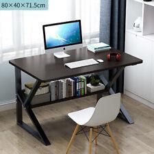 80 cm Modern Computer Desk with Shelves Desktop PC Table Home Office Workstation