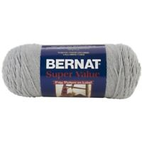 Bernat Super Value Yarn - 4 Medium Worsted Gauge 100% Acrylic - 7oz - Grey -