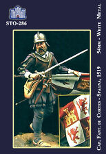 q STO-286 54 mm - Capitano dei Conquistadores di Cortes (1519)