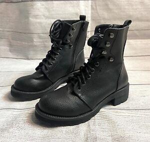 MIA Indigo Combat Moto Boots Black Size Womens 6