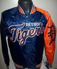 DETROIT TIGERS MLB STARTER Snap Down Jacket Sping/Summer Ed NAVY/ORANGE S M LG