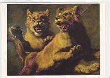 CP ART TABLEAU FRANS  SYNDERS Zwei springende junge Löwen