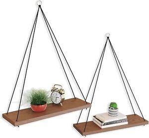 OMYSA Hanging Shelves for Wall & Window Plant Shelf Indoor - Floating Wall Shelv