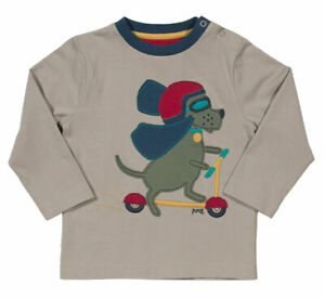 BNWT! Scooting Dog T-shirt. 100% Organic Cotton. UK Stock.