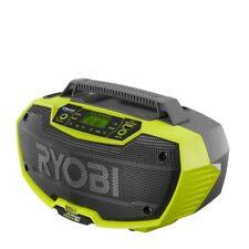 NEW Ryobi Hybrid Stereo Radio P746 Bluetooth 18v ONE+ Dual Speaker Tool Only