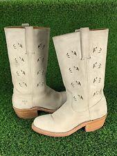 Frye Western Cowboy Boots Floral Cutout Women's 6.5 M