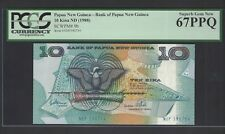 Papua New Guinea 10 Kina ND(1988) P9b Uncirculated Graded 67