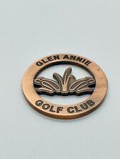 Glen Annie Golf Club Copper Member Only Milled Cutout Golf Ball Marker Coin Mint